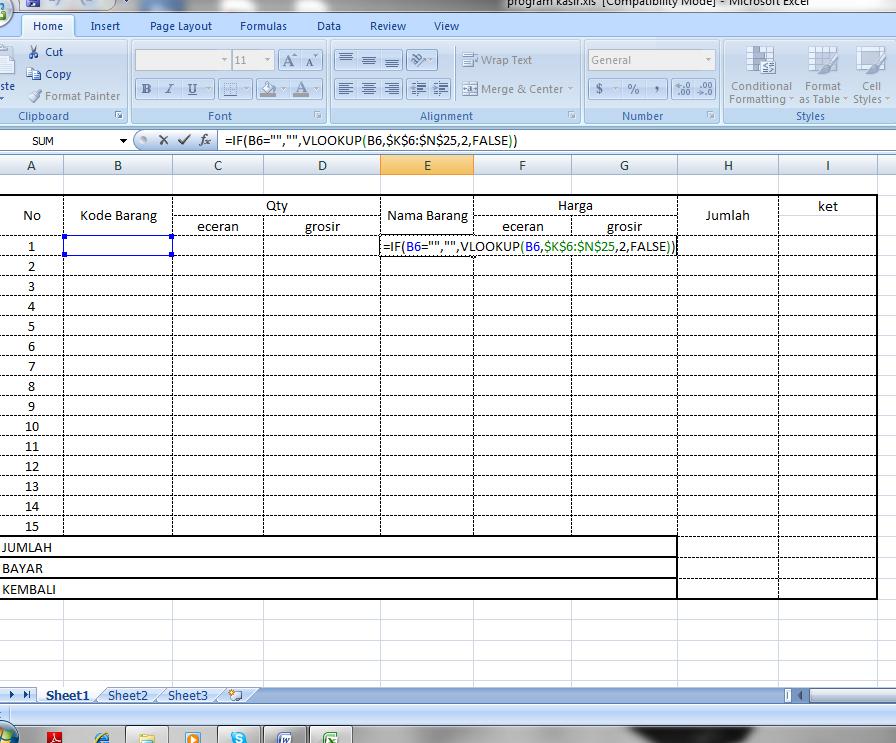 Contoh Database Dengan Excel Gontoh